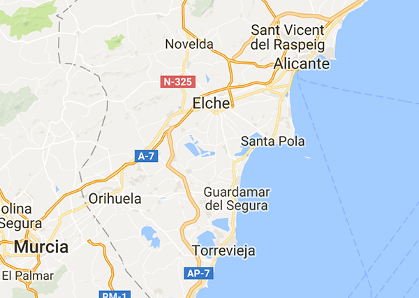 Costa Blanca map from Spanish Legal Homes