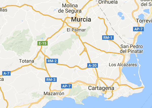 Murcia map on Spanish Legal Homes