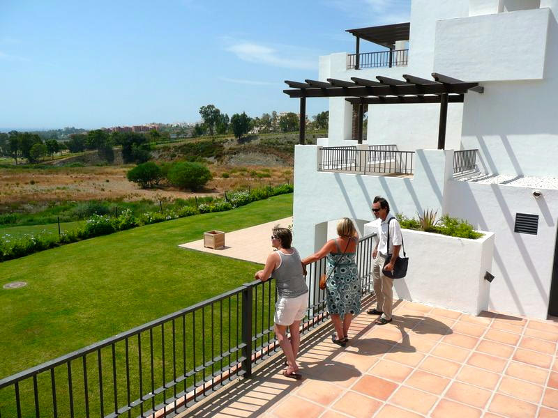 Group of people on Spanish property inspection trip